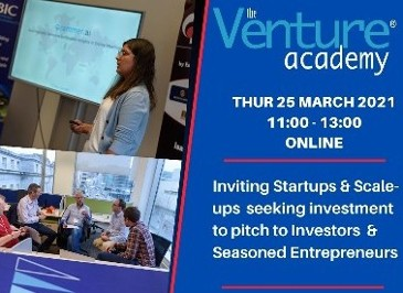 2021 CorkBIC Venture Academy - Mar 25 - 11:00 - 13:00 - Apply to Pitch today!