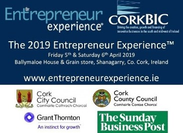 The 2019 Entrepreneur Experience - 5th & 6th April 2019 Apply NOW