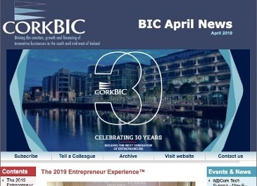 BIC April News; 2019 Entrepreneur Experience review; Photos; Videos; Accelerator Applications; Client news