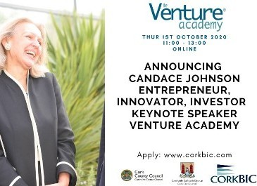 Candace Johnson to deliver Keynote Address at 2020 Venture Academy on Oct 1st - Register Today!