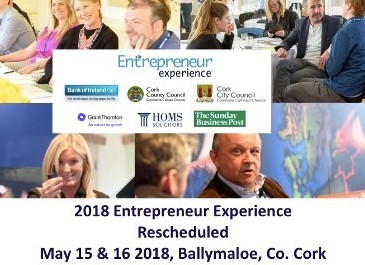2018 Entrepreneur Experience Rescheduled for May 15 & 16 in Ballymaloe